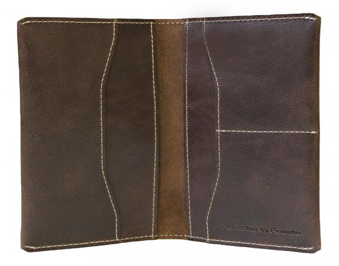 Обложка для паспорта Apache ОП-2-A дымчато-коричневая