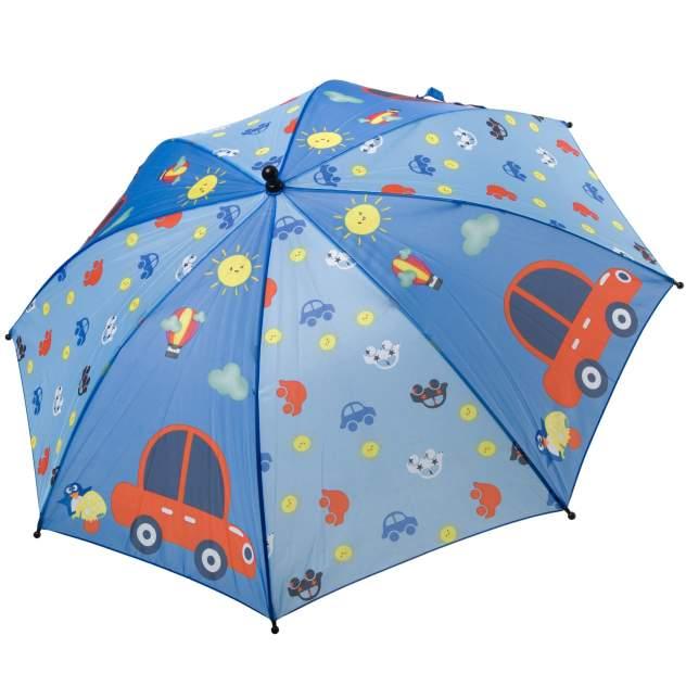 Автоматический детский зонт Bondibon Машинки, голубой, 19 см