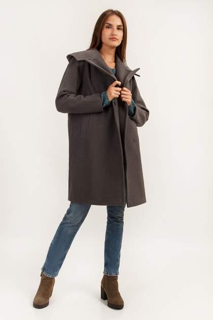 Пальто женское Finn Flare A19-12031 серое L