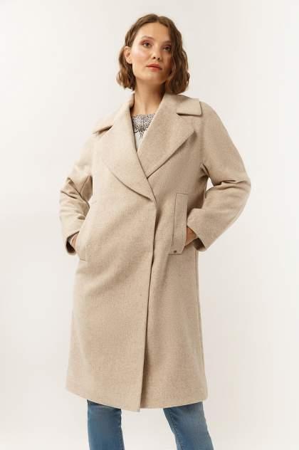 Пальто женское Finn Flare A19-12000 коричневое L