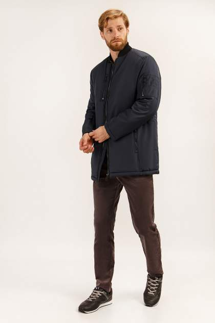 Зимняя куртка мужская Finn Flare A19-42001 темно-синяя L