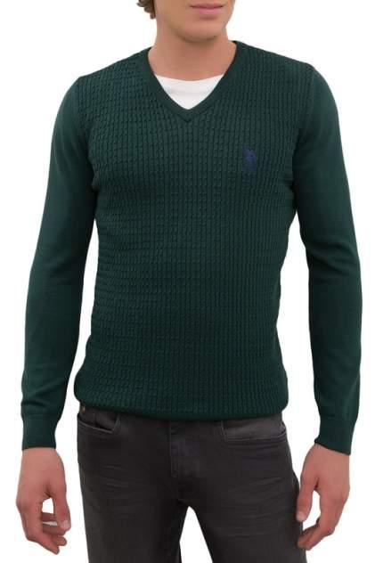 Пуловер мужской U.S. POLO Assn. G081GL0TK0GROV-GLBSK20 зеленый 52