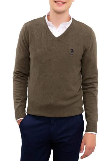 Пуловер мужской U.S. POLO Assn. G081SZ0TK0TCDUNI-BSK20 коричневый 50