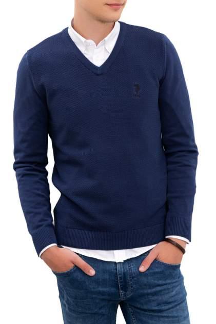 Пуловер мужской U.S. POLO Assn. G081SZ0TK0TCDUNI-BSK20 синий 46
