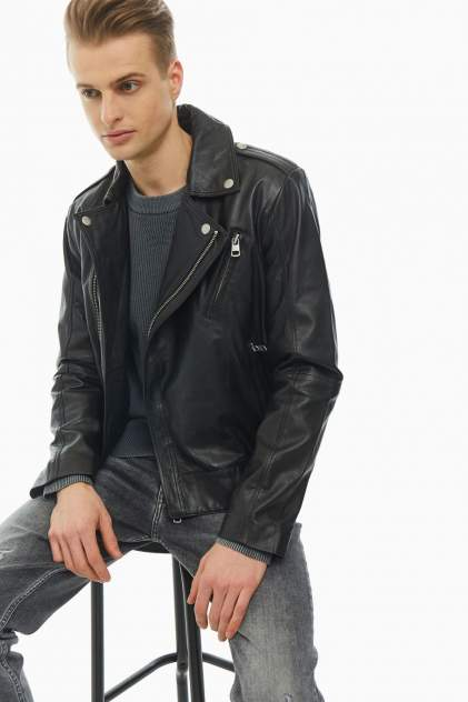 Мужская кожаная куртка Calvin Klein Jeans J30J315000.BAE0, черный