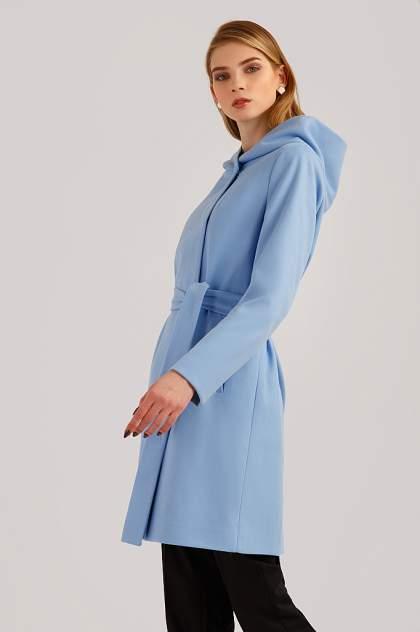Пальто женское Finn Flare B19-11006 голубое XXL