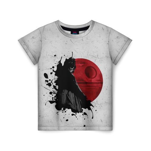 Детская футболка ВсеМайки 3D Дарт Вейдер и Звезда смерти, размер 86