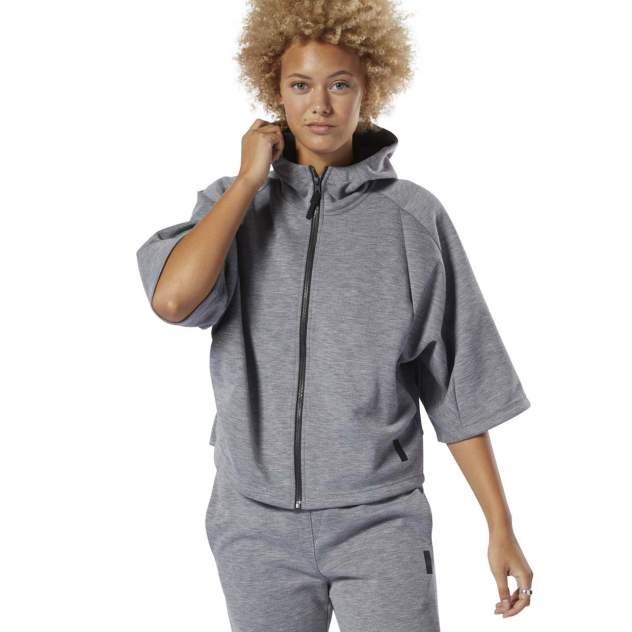 Толстовка Reebok Training Supply Full-Zip, серый, XS INT