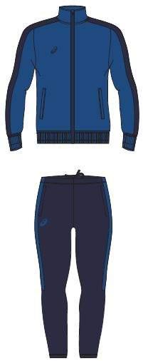 Спортивный костюм Asics Poly, синий, XL INT