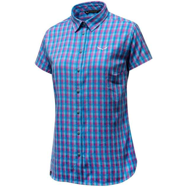 Рубашка Salewa Puez Ecoya Dry W S/S Srt, blue, 42 EU