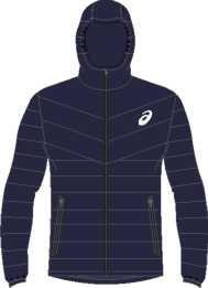 Куртка Asics Down Hooded, синий