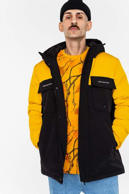 Куртка мужская befree 39926106 желтая M