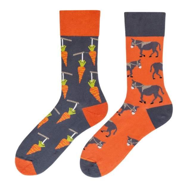 Носки женские Kawaii Factory Ослики и морковь оранжевые 36-39