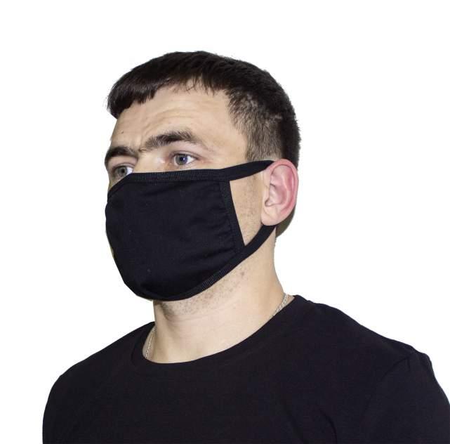 Многоразовая защитная маска Осьминожка 3К черная 1 шт.