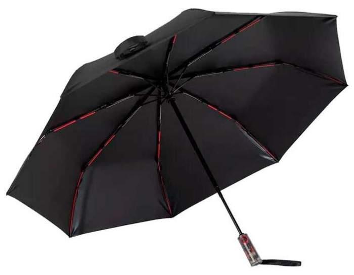 Зонт складной унисекс полуавтоматический Xiaomi ValleyAutomaticSunnyRainyUmbrella черный