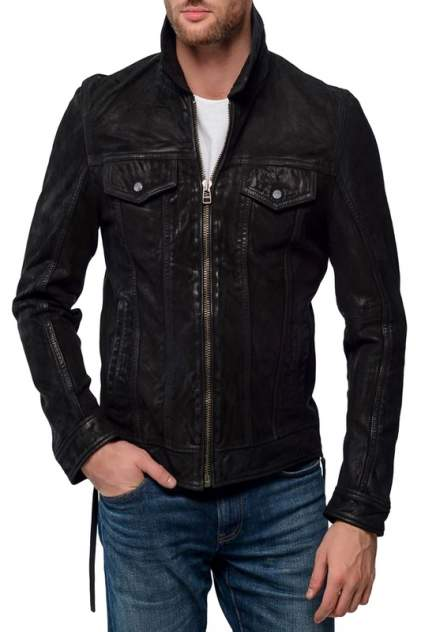 Кожаная куртка мужская GIPSY TADES черная 50