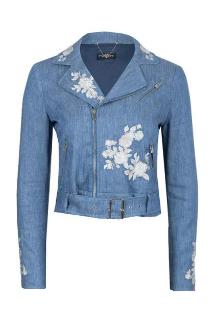 Джинсовая куртка женская TWINSET 97961 голубая 42