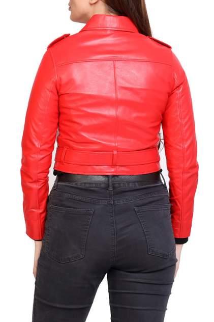 Кожаная куртка женская EXPO FUR S.5 красная 38