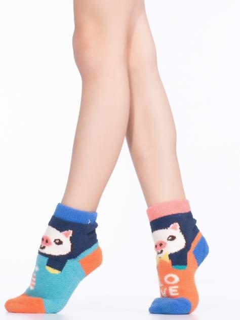 Носки детские Hobby Line, цв. голубой; оранжевый р.16-18