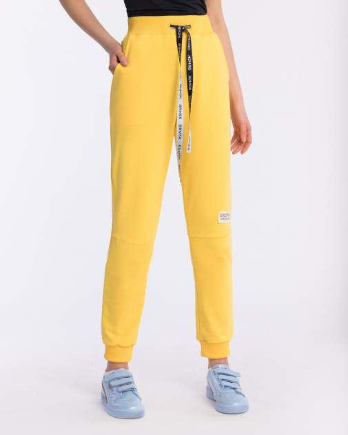 Брюки женские BARMARISKA с шевроном желтые S