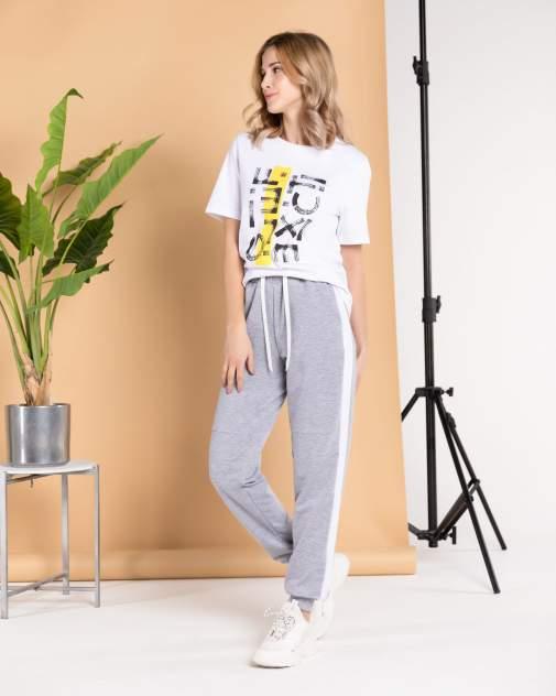 Женские спортивные брюки BARMARISKA с лампасами, серый