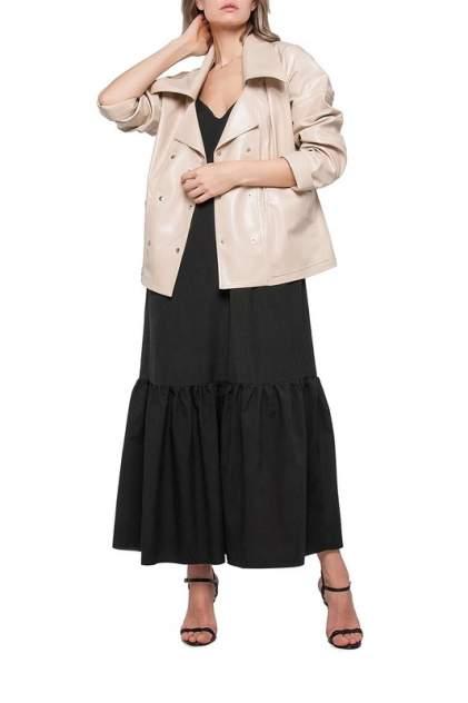Кожаная куртка женская LIMONTI 758700 бежевая 42