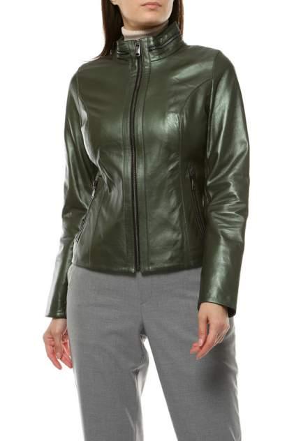 Кожаная куртка женская VITTORIO VENETO VV-540 зеленая 42