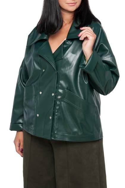 Кожаная куртка женская LIMONTI 758702-1 зеленая 52
