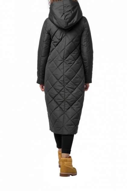 Пуховик-пальто женский DIZZYWAY 20318 серый 42