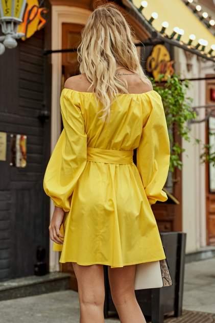 Платье женское Hochusebetakoe ST 126 желтое 44