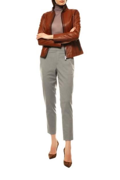 Кожаная куртка женская VITTORIO VENETO VV-540 коричневая 44