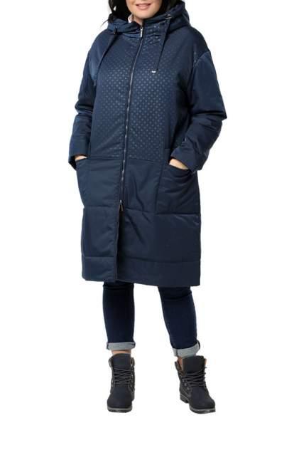 Пуховик-пальто женский DIZZYWAY 20307 синий 62