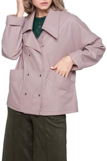 Кожаная куртка женская LIMONTI 758701 розовая 42
