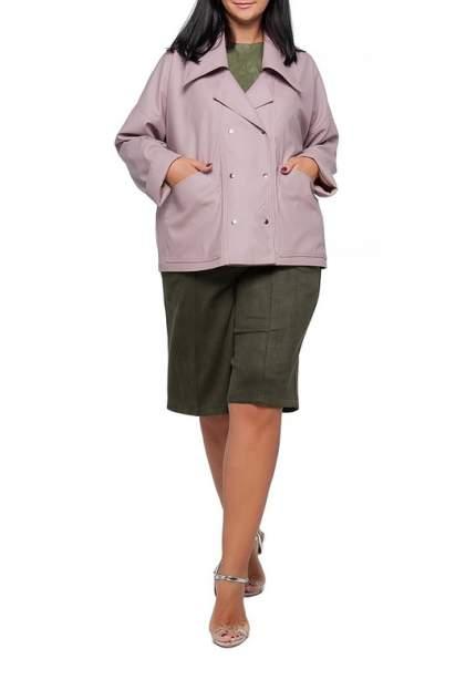 Кожаная куртка женская LIMONTI 758701-1 розовая 52