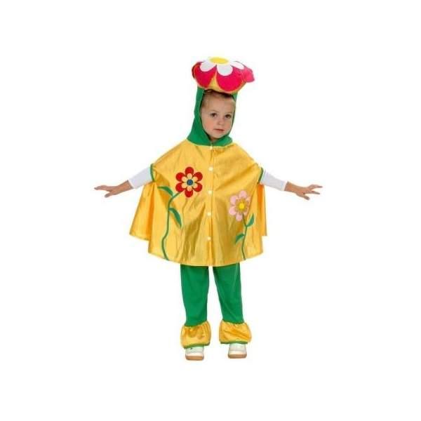 Карнавальный костюм Snowmen Цветок, цв. зеленый; желтый р.80