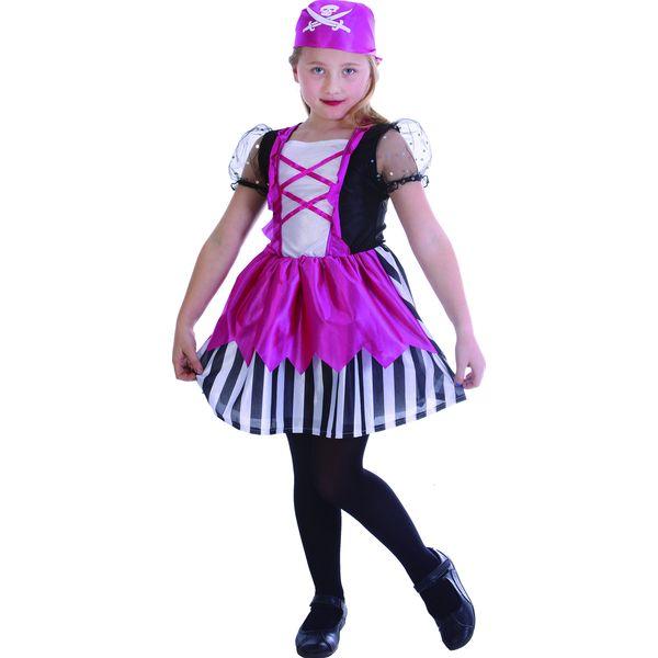 Карнавальный костюм Snowmen Пират, цв. розовый; белый р.110