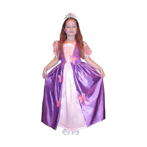 Карнавальный костюм Snowmen Принцесса, цв. розовый; фиолетовый р.134