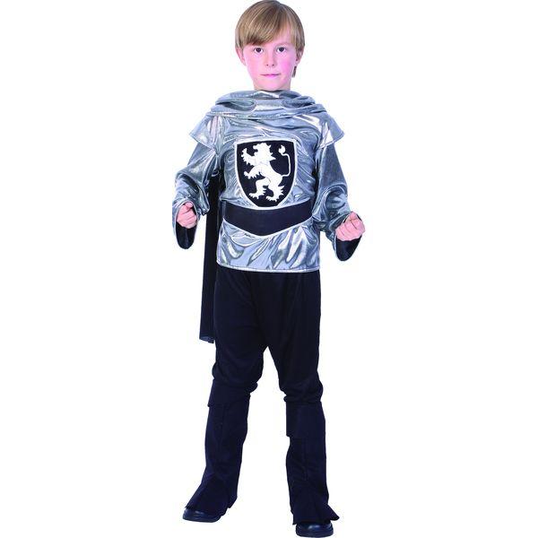 Карнавальный костюм Snowmen Рыцарь, цв. серебристый; черный р.134