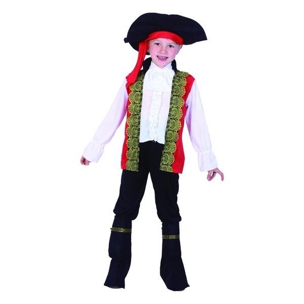Карнавальный костюм Snowmen Пират, цв. черный; белый р.122
