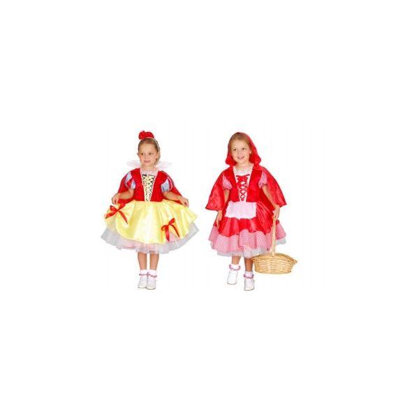Карнавальный костюм Snowmen Красная Шапочка, цв. красный; белый; желтый р.98