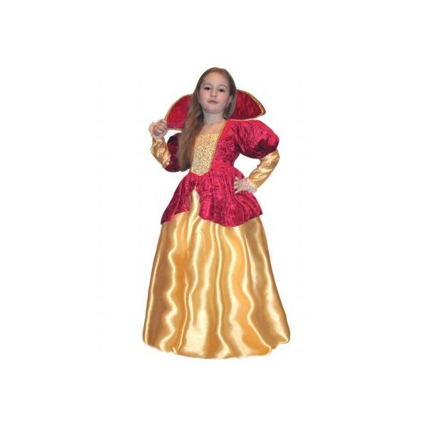 Карнавальный костюм Snowmen Королева, цв. желтый; красный р.104