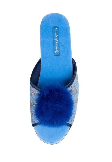 Домашние тапочки женские Smile of Milady DW-O-3-432-03 синие 39 RU