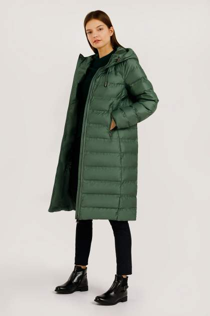Пуховик женский Finn Flare B20-32065 зеленый S