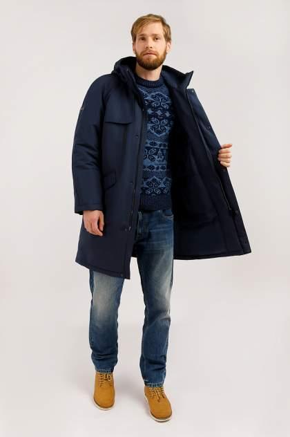 Пуховик мужской Finn Flare W19-42003 темно-синий 3XL