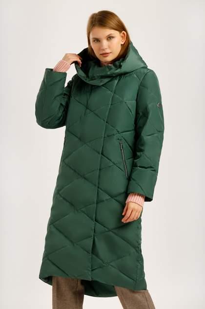 Пуховик женский Finn Flare W19-12041 зеленый XXL