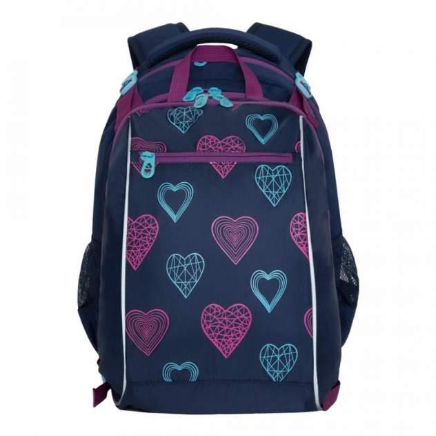 Рюкзак детский Grizzly RG-064-1 школьный с мешком синий