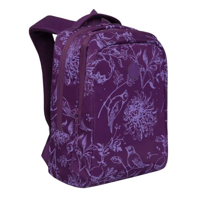 Рюкзак детский Grizzly RD-044-5 фиолетовый - птицы
