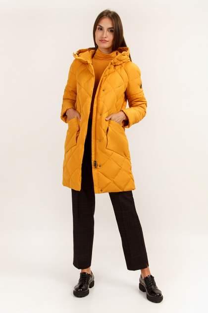 Пуховик женский Finn Flare A19-32005 желтый XXL