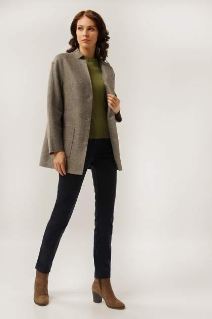 Пальто-пиджак женское Finn Flare A19-12041 коричневое XS