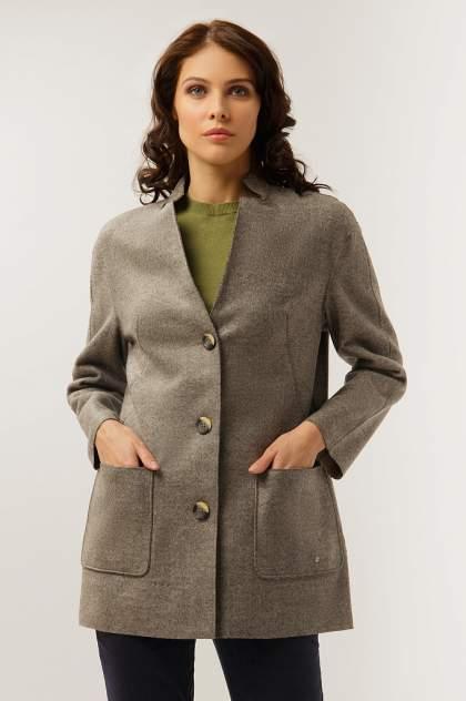 Пальто-пиджак женское Finn Flare A19-12041 коричневое XL